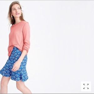 J. Crew fit and flare mini skirt